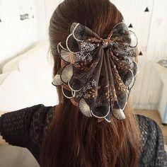 Ribbon Hair Clips, Diy Hair Bows, Ribbon Bows, Kawaii Accessories, Diy Hair Accessories, Hair Bow Bun, Stylish Dress Designs, Lace Hair, Handmade Beaded Jewelry