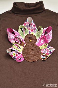 DIY SHIRT : DIY Thanksgiving turkey T-shirt