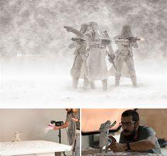 Düster und gewaltig sind die Szenerien, die Fotograf und Digitalkünstler Felix Hernandez Rodriguez erschafft. Wer hinter den Bildern Fotomontagen vermutet, liegt natürlich richtig, aber dennoch ist der größte Teil tatsächlich fotografiert worden. In seinem