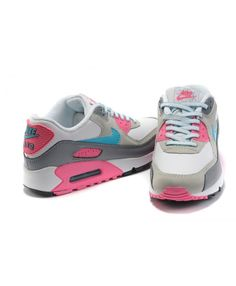 c2f27e3d5a1c Nike Air Max 90 Hyperfuse Leather Light Grey Pink Mint Blue Womens Trainers  Cheap Online Basketball