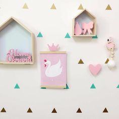 Multicolored Triangles Sticker Wall Decals - Children's Wall Art & Room Decor