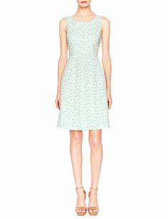 Eyelet Fit & Flare Dress | Women's Dresses | THE LIMITED