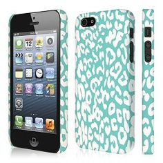 Mint Green Leopard iPhone 5 Case. #mint #leopard #iphone5