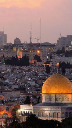 Jerusalem At Dusk, Israel