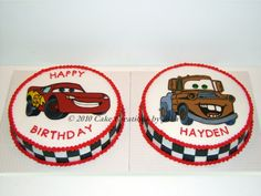 Lightning and Tow Mater cakes
