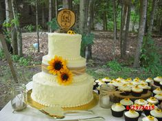 Sunflower Wedding  on Cake Central