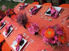 A colorful look on a Long table