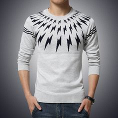 #British-Sweater-Men-Winter-New-round-Neck-lightning-design-pullover-men-Fashion-Slim