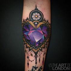 8 Sparkly & Magical Amethyst Crystal Tattoos | Tattoodo.com