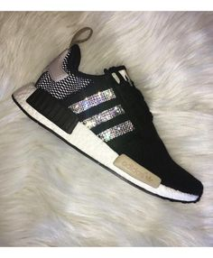 Adidas Nmd Crystal Black Beige Grey trainers for cheap 03800d7b9b
