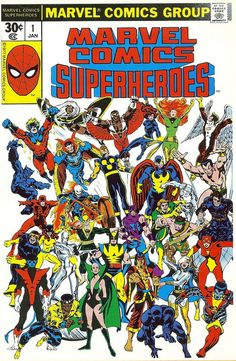 Marvel Comics Superheroes #1. That's a lot of 70s Marvel goodness in that picture!