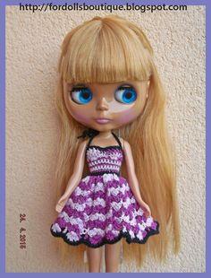 Blythe dress - Vestido para muñeca Blythe de Fordollsboutique en Etsy
