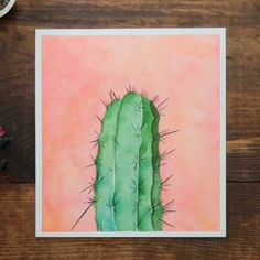 - Cactus - Are you a sucker for succulents? This cactus watercolor is prickly with prettine. Are you a sucker for succulents? This cactus watercolor is prickly with prettiness! See how this watercolor painting comes to be. Painting & Drawing, Watercolor Paintings, Drawing Tips, Painting With Watercolors, Watercolour Drawings, Bee Painting, Watercolor Cactus, Cactus Painting, Cactus Drawing