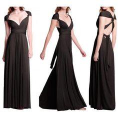 Dmart7deal long maxi dress sexy bandage Multiway Bridesmaids Convertible wrap