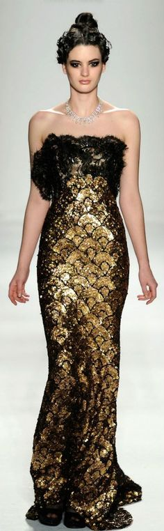 Fashion - Runway / ❈ Venexiana NY Mercedes Benz Fashion Week 2012 ❈ by Haute Couture Style, Couture Fashion, Runway Fashion, Womens Fashion, Gold Fashion, High Fashion, Fashion Glamour, Beautiful Gowns, Beautiful Outfits