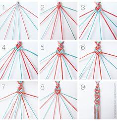Heart Pattern Friendship Bracelets Tutorial