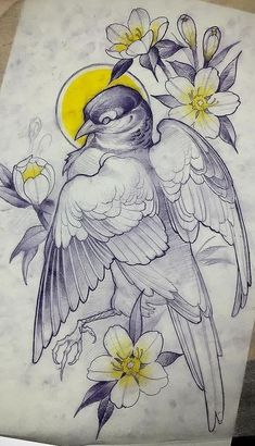 Ideas Tattoo Animal Design Illustrations For 2019 Art And Illustration, Ink Illustrations, Tattoo Sketches, Drawing Sketches, Tattoo Drawings, Drawing Eyes, Bird Drawings, Animal Drawings, Pencil Drawings