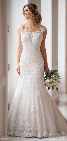 fdf0b0844502 Stella York Spring 2018 Bridal Collection · Dream Wedding DressesPrincess  ...