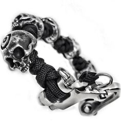 Limited Edition Dervish Skulls by John Gage. You may not need to carry knucks sporting this wrist piece.  5 Pewter...