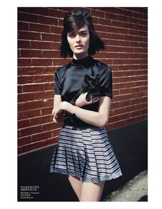 visual optimism; fashion editorials, shows, campaigns & more!: sam the british bird: sam rollinson by max vadukul for vogue china june 2013 Rochas