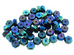 Jewelry Making Supplies, Craft Supplies, Recycled Jewelry, Scrapbook Designs, Gold Filigree, Bead Caps, Blue Beads, Czech Glass Beads, Custom Jewelry