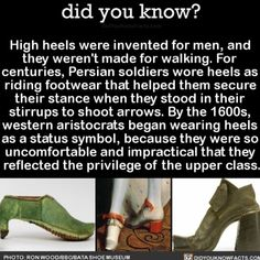 You fancy  #interesting history #shoes #highheels Download our free App: [LINK IN BIO]