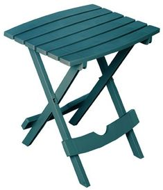 Adams Manufacturing Quik-Fold Portobello Resin Plastic Outdoor Side Table - The Home Depot Outdoor Side Table, Patio Table, Patio Chairs, Adirondack Chairs, Picnic Table, Arm Chairs, Portobello, Home Depot, White Table Top