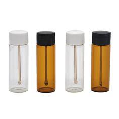 5pcs 67MM Snuff Snorter Glass Bottle Bottle Pill Box Case Sniffer bottles,Snuff Sniffer Bottle With Metal Spoon.Color Random #Affiliate