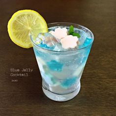 【ライトブルー桜】 ブルーゼリー カクテル