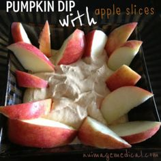 Skinny Pumpkin Dip-- So yummy and perfect for football parties.