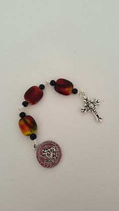 Rhodonite Pocket Rosary by AutumnsBlessing on Etsy