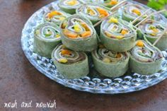 """Black Bean Mango Pinwheels 18 Vegetarian Barbecue Dishes So Good You'll Be Like, """"Meat Who? Vegetarian Grilling, Healthy Grilling Recipes, Barbecue Recipes, Barbecue Sauce, Veg Recipes, Vegetarian Food, Appetizer Salads, Appetizer Recipes, Appetizers"""