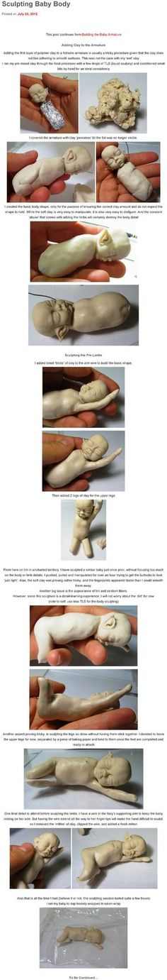 Blog Post: Adding Clay for the Torso of my OOAK Polymer Clay Baby Fairy