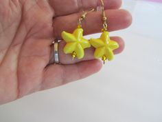 Starfish Earrings, Yellow Starfish, Starfish Jewelry, Yellow Earrings, Earrings, Beach Earrings, Birthday Gifts Women,Womans Accessory,Gifts by BrownBeaverBeadery on Etsy