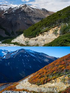Patagonia: one place, two seasons! Torres del Paine NP, Chile #Patagonia