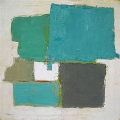 A composition in Turquoise - Tatita Ganly, born in Buenos Aires in 1958 Modern Art, Contemporary Art, Mixed Media Painting, Color Theory, Painting Inspiration, Artsy Fartsy, Art Photography, Abstract Art, Art Gallery