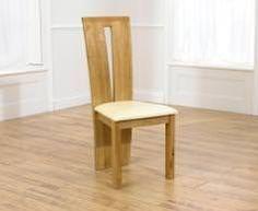 Mark Harris Arizona Oak Dining Chair - Cream Bycast Leather Seat (Pair)