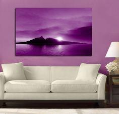 Twin Mountain Sunset Purple