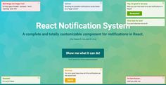 React notification system https://github.com/igorprado/react-notification-system/blob/master/README.md