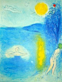 """Marc Chagall. The Summer Season, from Daphnis and Chloe. Original lithograph. 1961 12 5/8"""" x 16 ½"""""""