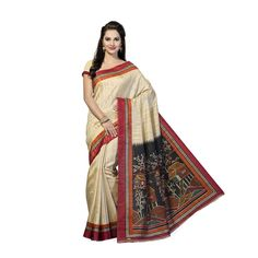 Color: Multicolor  Material for Body & Border: Poly Cotton  Saree Length: 6.3 Mts  Blouse Included: Yes  Package Contents: 1 Pc of  Saree including Blouse    Production Capacity: 100 pcs/day  No Cash On Delivery    Time Required to Dispatch: 24-48 hours  Product Return Period: 7 days easy returns  Return Policy: Product returns are accepted if the customer does not like the product or products are  found to be damaged, defective or not as described.
