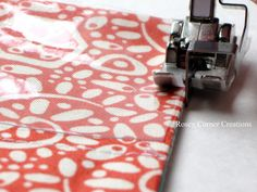 Sewing with vinyl tips.