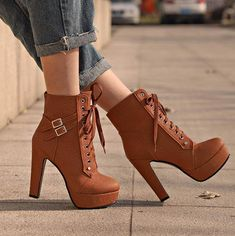 high heels classy \ high heels ` high heels classy ` high heels stilettos ` high heels aesthetic ` high heels boots ` high heels outfit ` high heels for kids ` high heels drawing Heel Boots For Women, High Heels Boots, Boots For Short Women, Lace Up High Heels, Platform High Heels, Black High Heels, Womens High Heels, Heeled Boots, Heeled Sandals