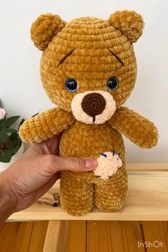 CROCHET PATTERN BEAR plush toy - Amigurumi pattern teddy bear - Animal Crochet pattern - Easy Pdf tutorial doll - printable Instructions