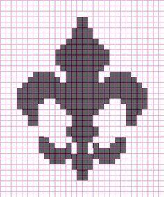 free cross stitch pattern of fleur de les   Yes it's a little taller than wide but trust me it looks better that ...