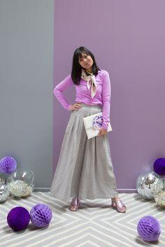 color adventures: oh joy wears purple and grey!