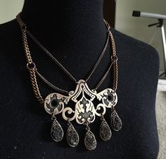 Druzy Bib Necklace Statement Necklace Wire by daniellerosebean