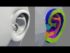 Ear Modeling – 動画で分かる「耳」モデリング!頭部のモデリングを動的に見せる「Human Head…