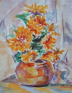 DPW Fine Art Friendly Auctions - A Burst of Orange by Mary Schiros
