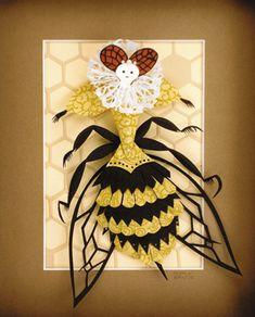 (repin-- this just tickles me!) Queen Elizabee, by paper artist Megan Brain.